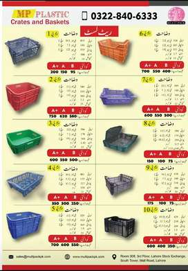 Plastic Crates and Baskets for Storage