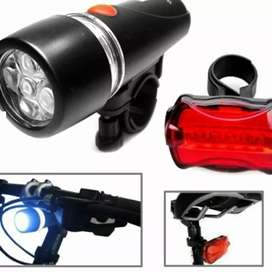 Power Beam Lampu Sepeda Depan+Belakang