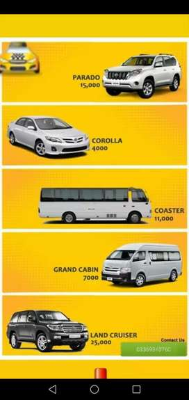 All Cars Are Available For Rent With Driver