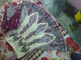 White and mehroon combination lehnga 2 jodi per lehnga 3000
