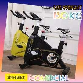 alat fitnes sepeda statis spin bike transformer komersial bisa cod