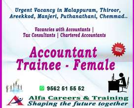 ACCOUNTS TRAINEE- FEMALE-MALAPPURAM