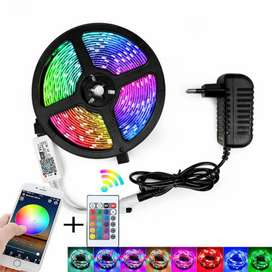 RGB led light 16.2 feet remote control