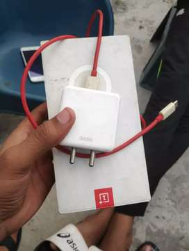 OnePlus 6t phone charger nd box..