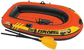 "INTEX Boat Set Explorer 200 For 2 Person 95 KG (58"" X 33"" X 14"" ) LUCK"