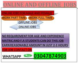 PART TIME AND FULL TIME JOBS FOR MAEL AND FEMALE