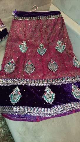 Purple wedding lengha
