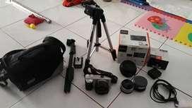 Sony A6000 16-50 kit + Lensa Banyak