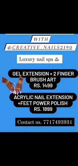 Nail extensions services and makeup services