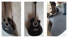 Black shiny guitar