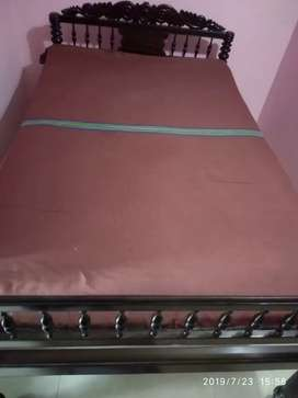 Old take wood 4*6 bed for sale