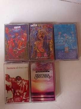 paket kaset pita baru/segel SANTANA isi 5 kaset..