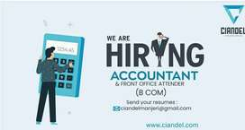 Front office executive and accountant( female)