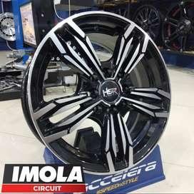 Pelek mobil datsun ring 14 HSR wheel R14 baut 4x100 dan 4x114,3 murah