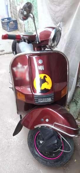 Self start scooter