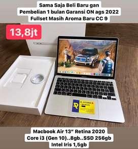 "Macbook Air 13"" 2020 fullset pembelian 1 bulan"