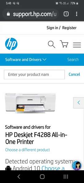 HP F4288 all in one printer, scanner, coppier