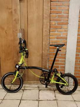 Brompton P6L Black lime 2019 (discontinued edition)