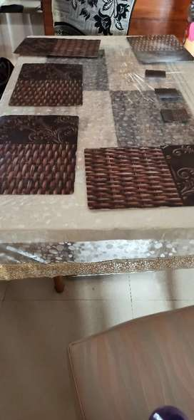 6 seater heavy marble dining table