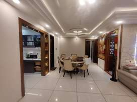 3BHK semi furnished with full POP work, garden area & kitchen cabinets