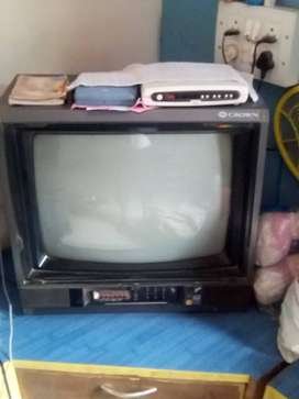 Old CROWN MAKE COLOUR TV IN WORKING CONDITION