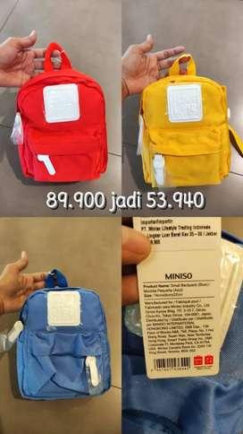 Miniso tas back pack medium