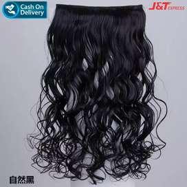 BAYAR DIRUMAH!!! Hair Clip Curly - Hitam