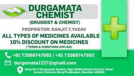 Counter salesman for chemist shop