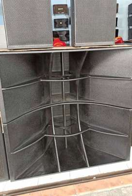 SUBWOOFER 18 INCH DOUBLE IMPORT KUALITAS INTERNATIONAL