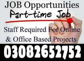 Office management work male and female staff required.