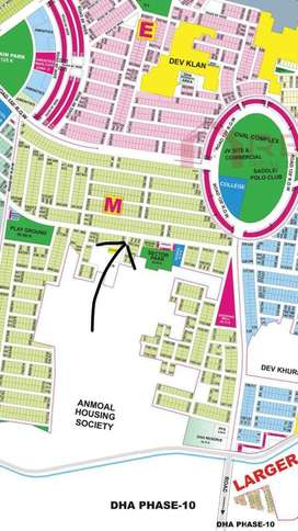 "Kanal Plot DHA 9 Prism ""M"" block near Sector Park & Oval for Sale"