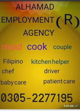 We provide all kinds domestic staffs best Services