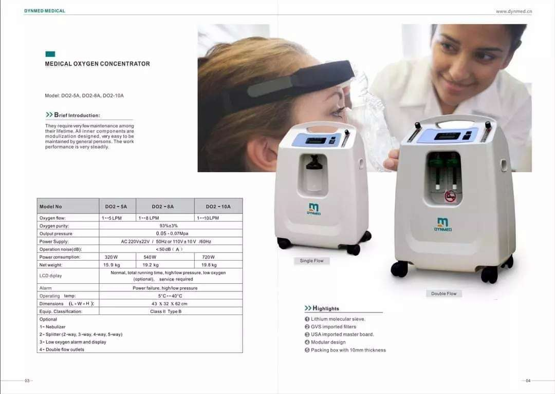 New Oxygen concentrator 10 liter available