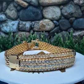 Gelang emas wanita full berlian