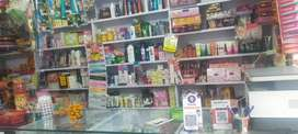 Cosmetic and gift shops full stock for sale with furniture