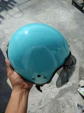 Helm NJS warna hijau telur asin (real pict)