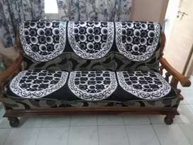 one Sofa and two chair along with cover