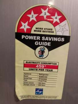 Refrigerator SAMSUNG make, 250 ltrs cap,