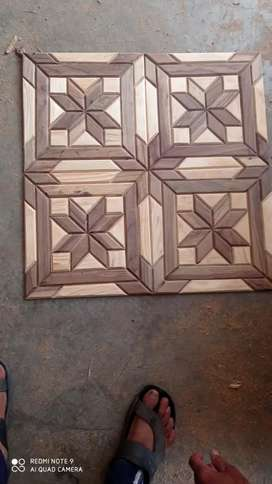 Wooden tiles manufacturing