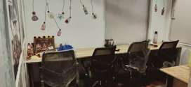 5 seater private office with MD table plug & play begumpet
