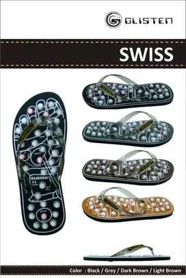 Sandal Glisten Swiss Asli Untuk Refleksi Dan Terapi Keseha