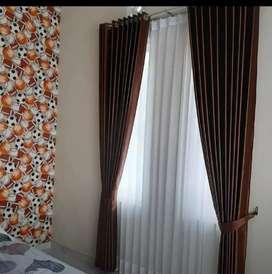 Tirai jendela minimalis gorden gordeng gordyn hordeng vitrace blinds