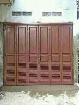 pintu garasi sleding lipat 'kl'