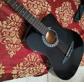 Jixing DD-380C-BLK Linden Wood Acoustic Guitar Black