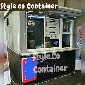 BOOTH CONTAINER CUSTOM| CONTAINER FRENCHISE SEMI CAFE| CONTAINER USAHA