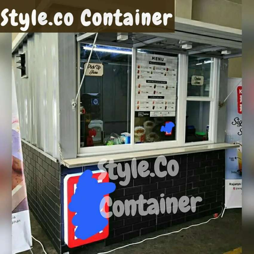 BOOTH CONTAINER CUSTOM| CONTAINER FRENCHISE SEMI CAFE| CONTAINER USAHA 0