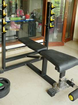 Moving Sale: Benchpress, Plates and Rods (Almost New, less than 1Y)
