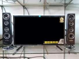 TV led Polytron 32inch dan 2 speaker tower