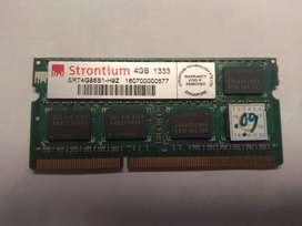 RAM DDR3 4GB 1333 Mhz Sodimm Laptop Memory