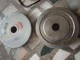 10kg steel dumbbell plates.. 5kg +5kg
